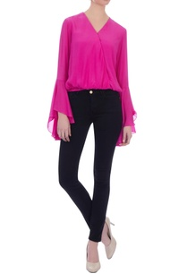 pink-wrap-style-crepe-silk-blouse