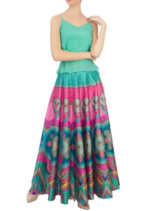 pink-green-butterfly-dupion-silk-maxi-skirt