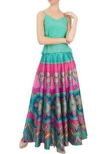 pink-green-butterfly-dupion-silk-maxi-skirt