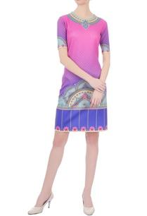 pink-purple-bodycon-scuba-dress