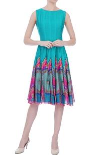 mint-green-chanderi-printed-short-dress