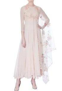 peach-white-sequin-embroidered-kurta-with-dupatta