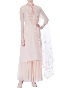 onion-pink-embroidered-kurta-dupatta