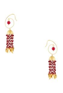 gold-micron-gold-polish-dangling-chain-earrings