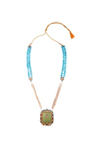 turquoise-blue-bead-kundan-long-statement-necklace