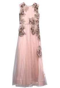 dusty-pink-viscose-applique-dress