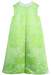 green-taffeta-laser-cut-dress