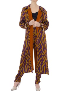 mustard-purple-zebra-stripe-cape-jacket