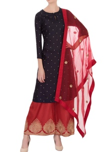 navy-blue-red-embroidered-kurta-with-pants