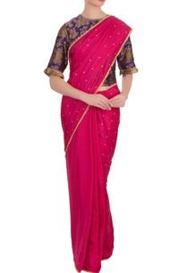 purple-fuschia-silk-brocade-sari-with-blouse
