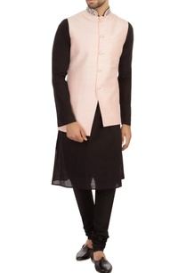 baby-pink-raw-silk-solid-nehru-jacket