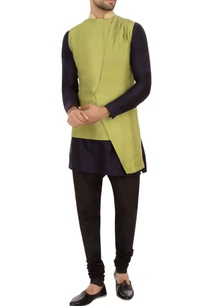 olive-green-dupion-silk-solid-nehru-jacket