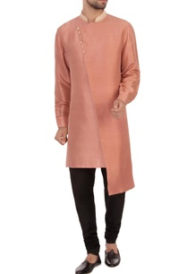 dusky-peach-dupion-silk-embroidered-kurta