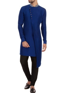 bright-blue-dupion-silk-embroidered-kurta
