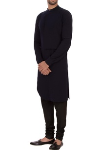 navy-blue-moss-georgette-panel-kurta