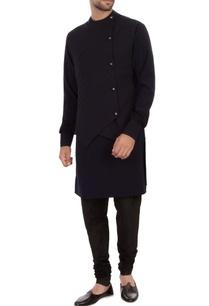 navy-blue-moss-georgette-waistcoat-kurta