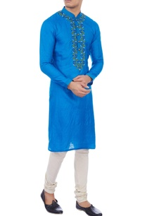 blue-muga-silk-embroidered-kurta