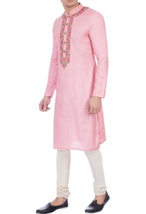 pink-muga-silk-embroidered-kurta
