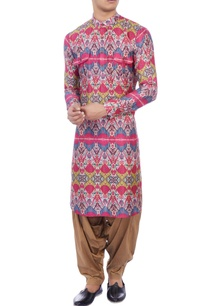 multicolored-ikkat-printed-muslin-kurta