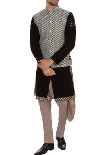 blue-grey-embroidered-nehru-jacket