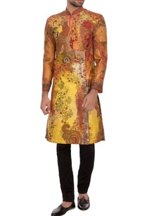 orange-yellow-garad-silk-embroidered-angrakha-kurta