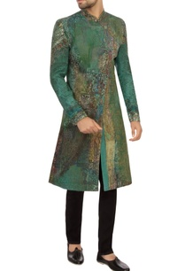 aqua-green-khadi-embroidered-sherwani
