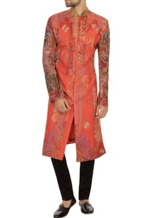 pink-khadi-embroidered-kurta
