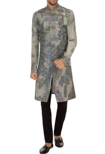 grey-khadi-embroidered-bandhgala-sherwani