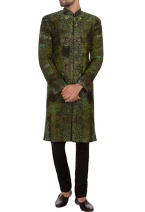 green-black-garad-silk-embroidered-sherwani