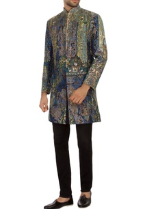 blue-green-brocade-silk-embroidered-bandhgala-jacket