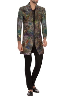 multi-colored-garad-silk-embroidered-jacket