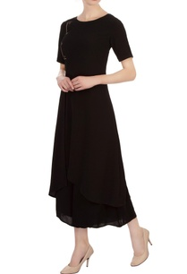black-georgette-asymmetric-tunic-with-pants