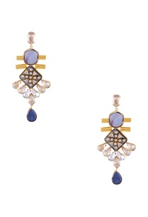 light-blue-gold-polished-epoxy-crystal-earrings