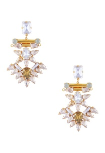 light-blue-gold-polished-epoxy-crystal-earrings