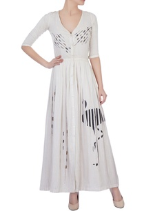 ivory-flamingo-motif-embroidered-maxi-dress