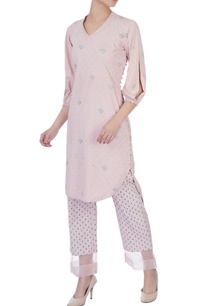 dogwood-pink-shawl-collar-kurta