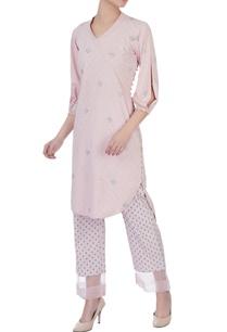 dogwood-pink-shawl-collar-kurta