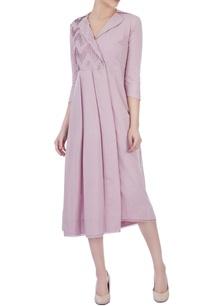 lilac-purple-cotton-shirt-dress