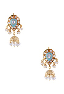firoza-gold-plated-copper-pearl-jhumki