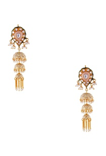 peach-gold-plated-copper-pearl-jhumki