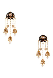 black-gold-plated-copper-pearl-jhumki