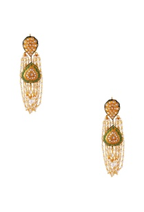 green-gold-plated-copper-pearl-jhumki