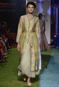 yellow-chanderi-silk-tulle-long-jacket-with-skirt