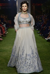 white-chanderi-organza-lehenga-set