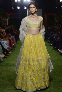 yellow-chanderi-organza-lehenga-set