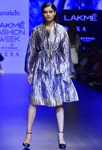 indigo-hand-woven-silk-dress-with-zari-jacket