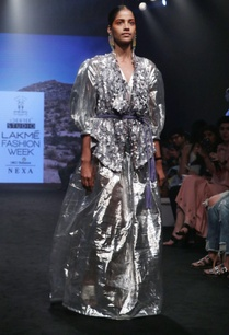 silver-silk-poly-viscose-gathered-maxi-dress