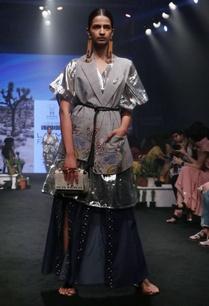 silver-silk-poly-viscose-gathered-midi-dress
