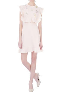 pastel-pink-moss-crepe-embroidered-skater-dress