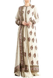 off-white-chiffon-jaal-sequins-work-jacket-lehenga-set